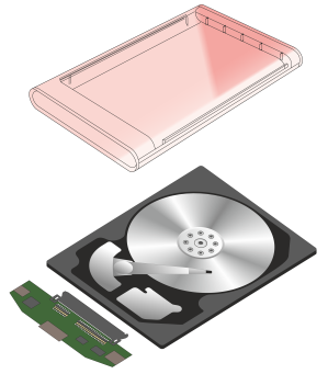 External hard drive components